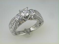 Karishma 18k white gold Diamond Wedding ring