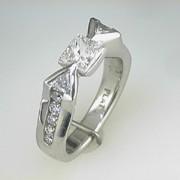 Platinum Diamond Engagement Ring 1