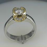 Platinum and 18k Paul Dodds Original Engagement Ring1