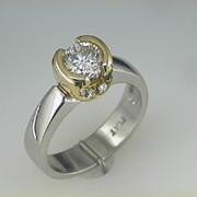 Platinum and 18k Paul Dodds Original Engagement Ring2