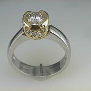 Platinum and 18k Paul Dodds Original Engagement Ring3