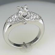 Varna18k Oval Diamond and Pave Ring2