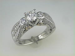 """Karishma"" 18k white gold Diamond Wedding ring"