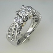 Karishma 18k white gold Diamond Wedding ring1