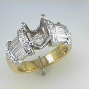 NovaPlatinum and 18k Yellow Gold Semi Mount
