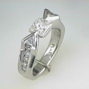 Platinum Diamond Engagement Ring 1