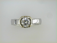 Platinum and 18k Paul Dodds Original Engagement Ring