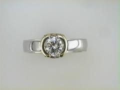 Platinum and 18k Paul Dodds Original Engagement Ring