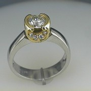 Platinum and 18k Paul Dodds Original Engagement Ring1