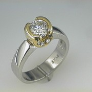 Platinum and 18k Paul Dodds Original Engagement Ring2