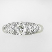 Varna18k Oval Diamond and Pave Ring1